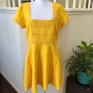 🌟NWT🌟F21 Plus Yellow Woven Dress Size 0X